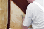 the removal of existing wallpaper